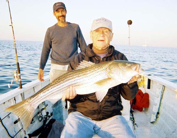 Wayne Ickes holds a very nice Bass taken on a plug October 3rd.